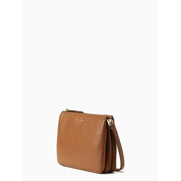 jackson triple gusset crossbody, WARM GINGERBREAD, hi-res