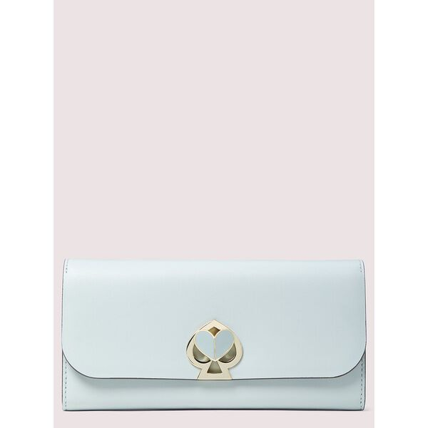 nicola twistlock flap continental wallet, CLOUD MIST, hi-res