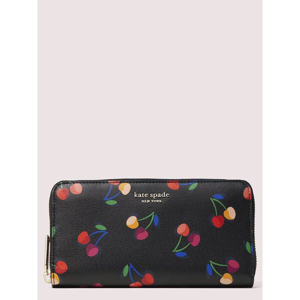 spencer cherries zip-around continental wallet