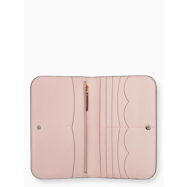 nadine medium clutch wallet, black, hi-res