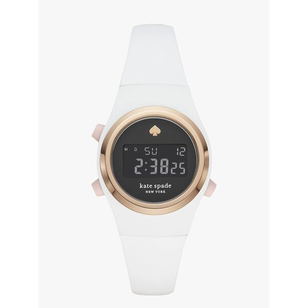 rumsey white silicone digital watch