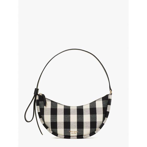 smile gingham small shoulder bag