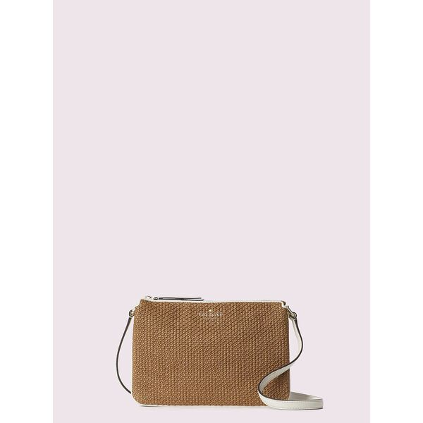 jackson straw triple gusset crossbody, warm gingerbread, hi-res