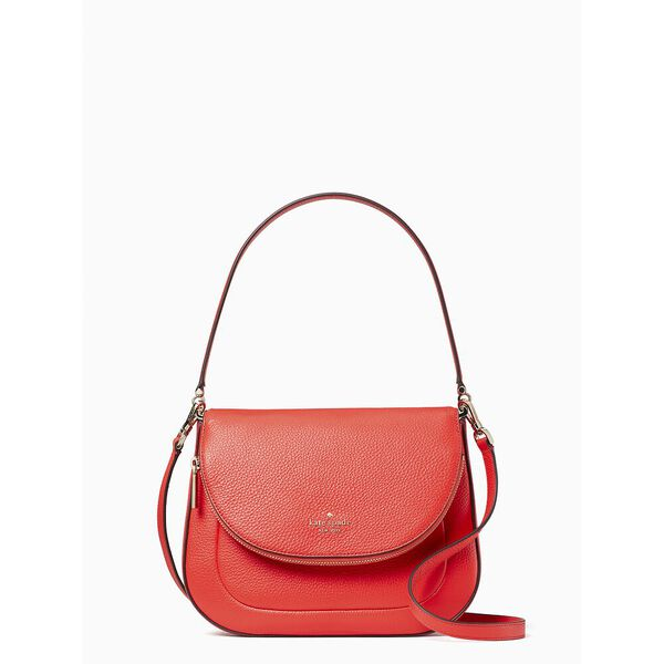 leila medium flap shoulder bag, geranium, hi-res