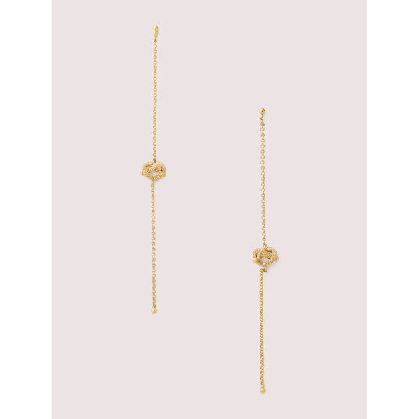 loves me knot pavé linear earrings