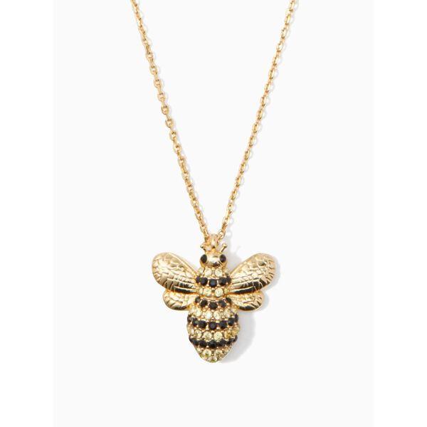 picnic perfect pave bee mini pendant, multi, hi-res