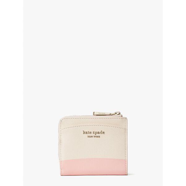 disney x kate spade new york clarabelle & friends small bifold wallet, multi, hi-res