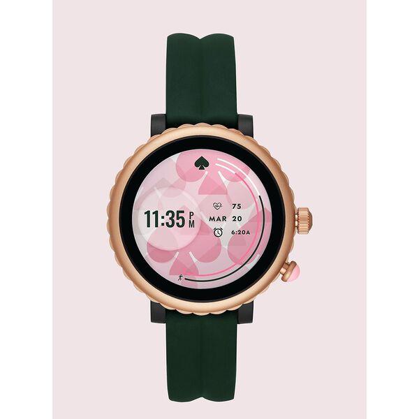 green silicone scallop sport smartwatch