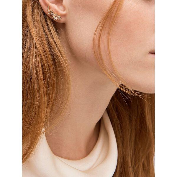 stargaze ear crawlers, clear/gold, hi-res