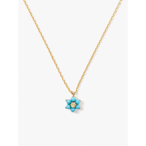 myosotis flower mini pendant, turquoise, hi-res