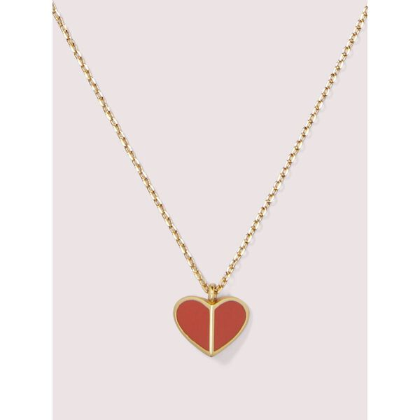 enamel heart mini pendant