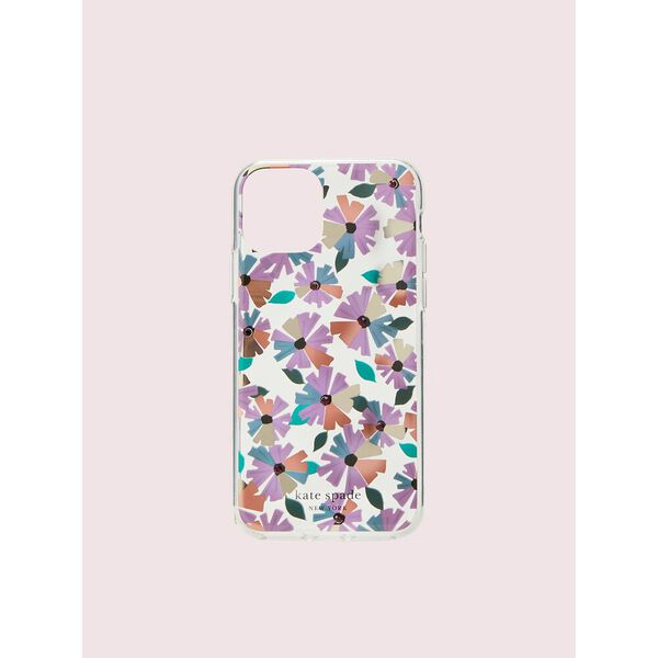 jeweled clear wallflower iphone 11 pro case, blue multi, hi-res
