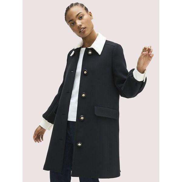colorblock coat, black, hi-res