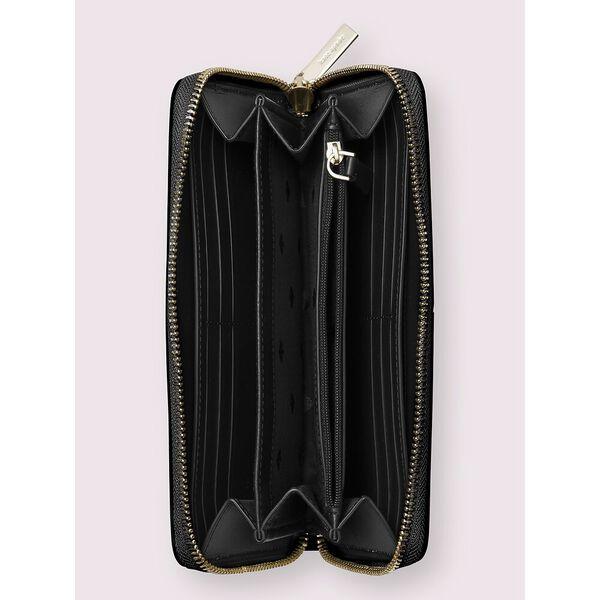 adel large continental wallet, black, hi-res