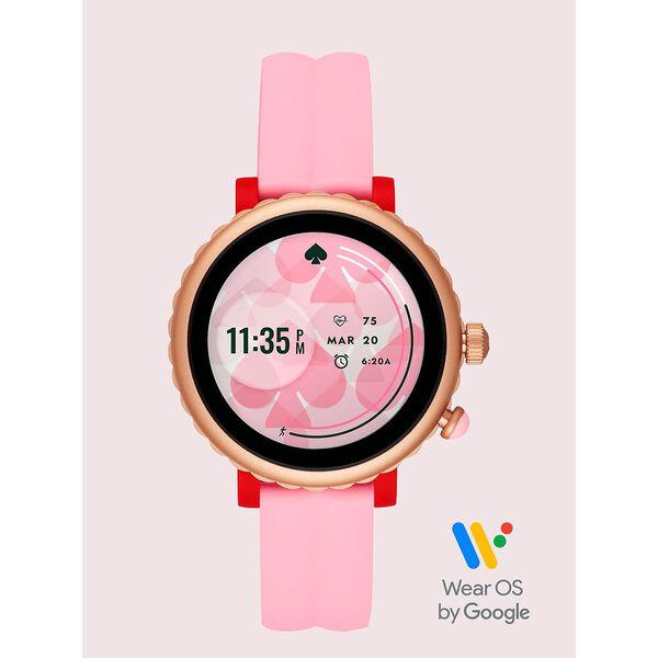 pink silicone scallop sport smartwatch