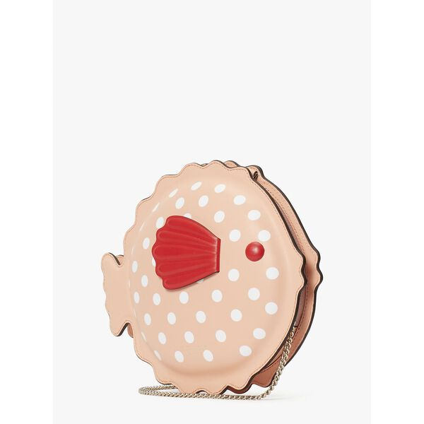puffy puffer fish crossbody, guava juice, hi-res
