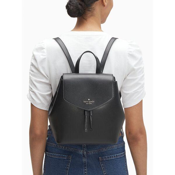lizzie medium flap backpack, black, hi-res