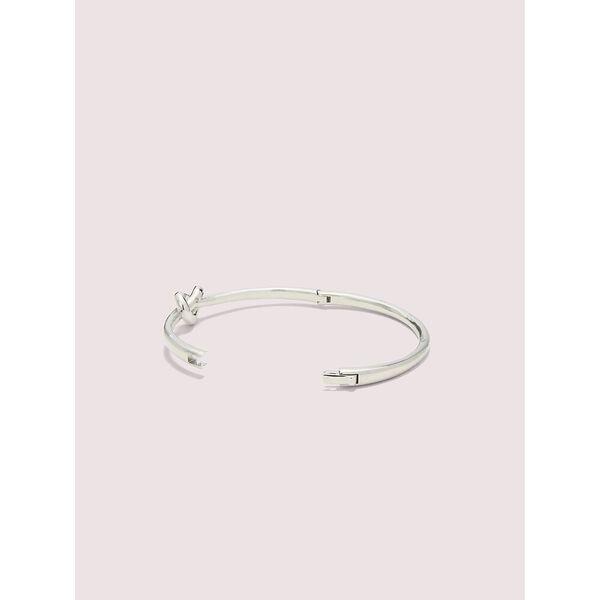 loves me knot bangle, silver, hi-res