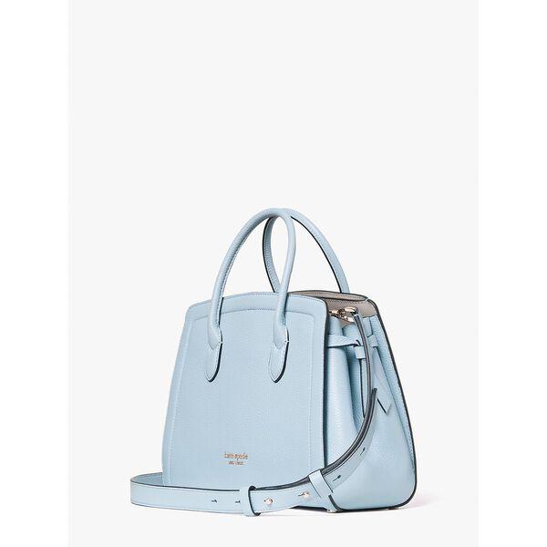 knott medium satchel, teacup blue, hi-res