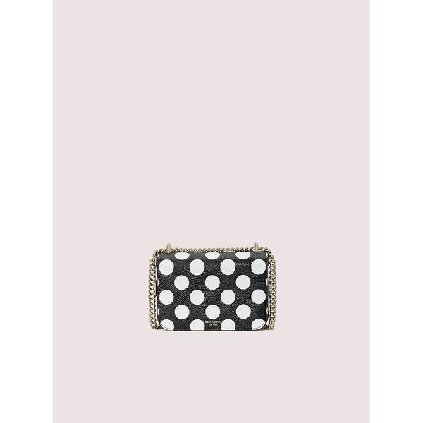 nicola embossed bikini dot twistlock small convertible chain shoulder bag, black multi, hi-res