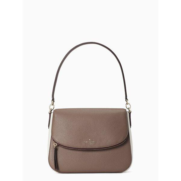 jackson colorblock medium flap shoulder bag, neutral multi, hi-res