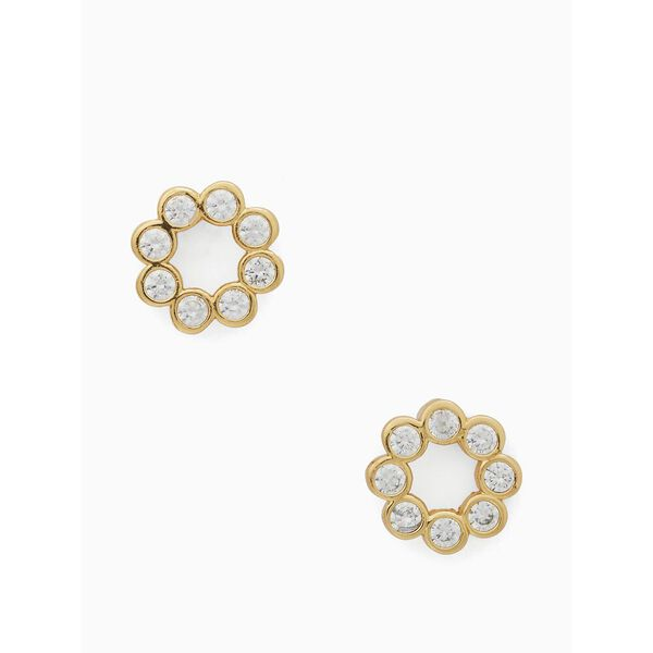 full circle studs, CLEAR/GOLD, hi-res