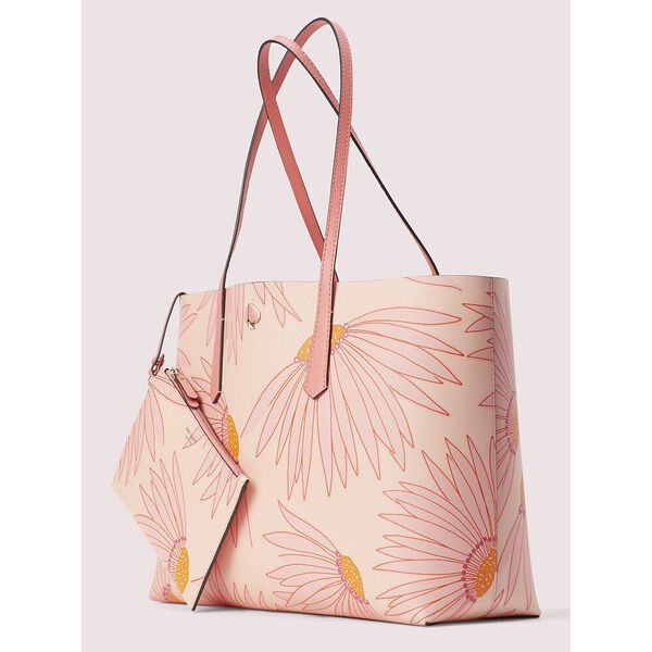 molly falling flower large tote, pink multi, hi-res