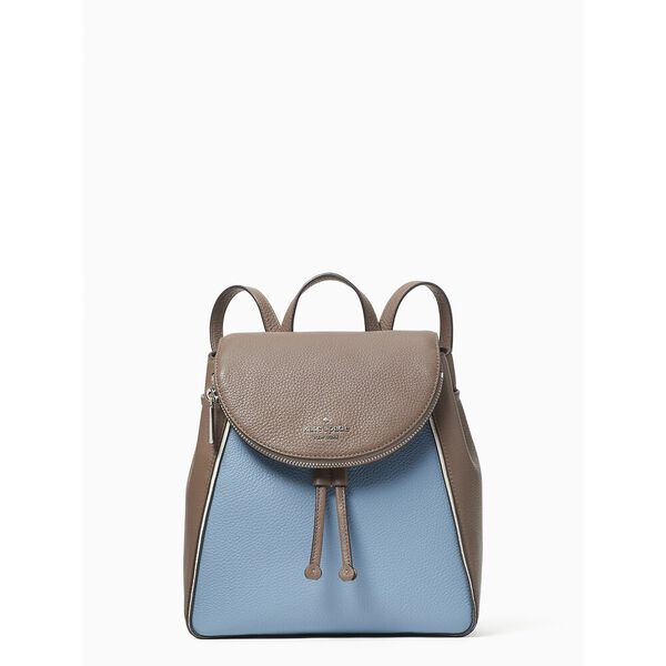 leila colorblock medium flap backpack, baltic sea multi, hi-res