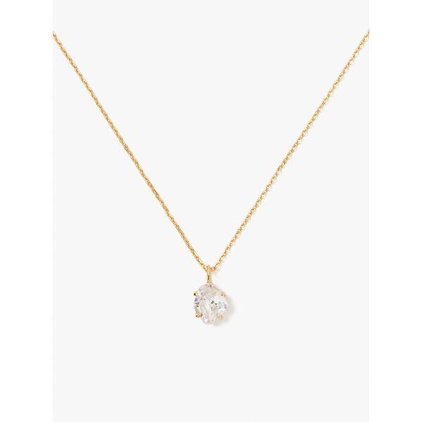 treasure trove mini pendant, clear/gold, hi-res