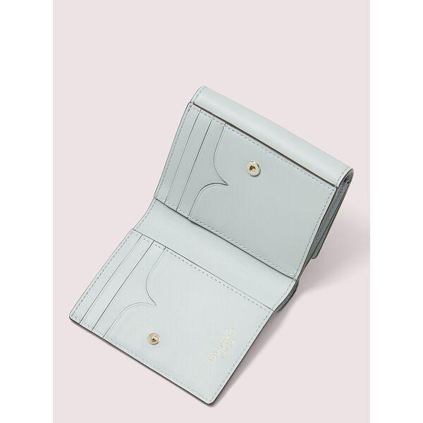 nicola twistlock bifold flap wallet, CLOUD MIST, hi-res