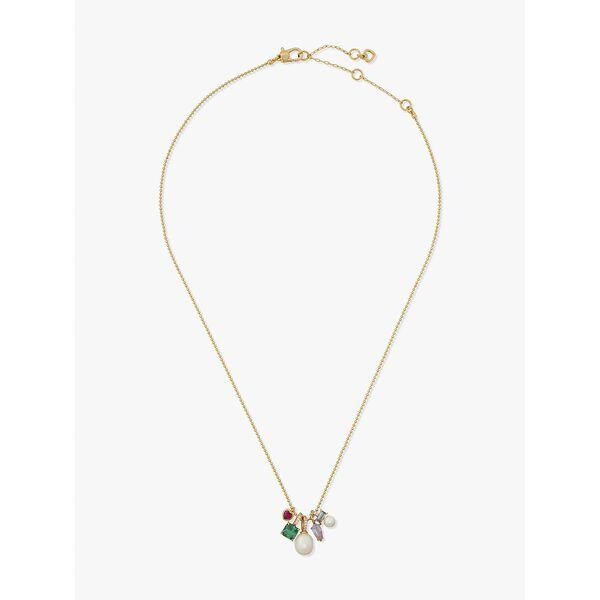 little gem charm pendant, multi, hi-res