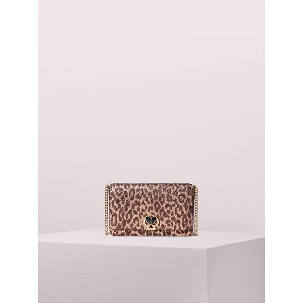 nicola metallic leopard twistlock chain wallet