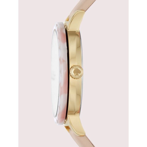 morningside interchangeable top ring leather watch, beige, hi-res