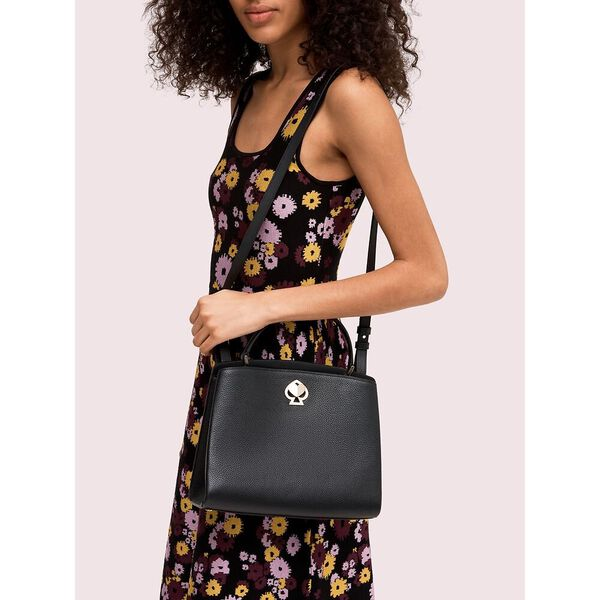 romy medium satchel, black, hi-res