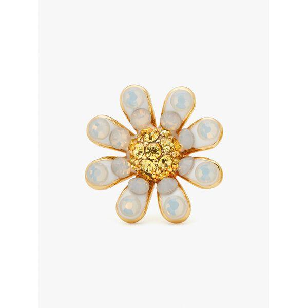 dazzling daisy studs, opal, hi-res