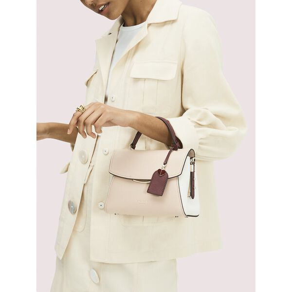 grace small top handle satchel, blush multi, hi-res
