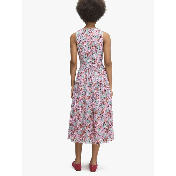 floral medley burnout dress, PUNCH, hi-res