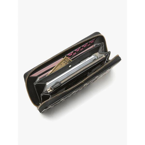 disney x kate spade new york minnie mouse zip around continental wallet, black multi, hi-res