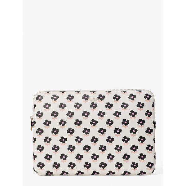 block floral laptop sleeve