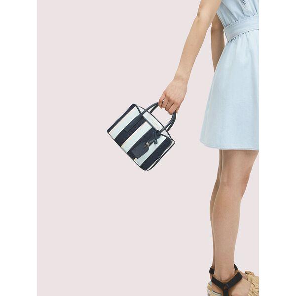 margaux canvas stripe mini satchel, blazer blue multi, hi-res