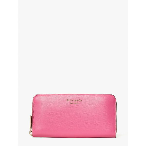 spencer zip-around continental wallet, crushed watermelon, hi-res