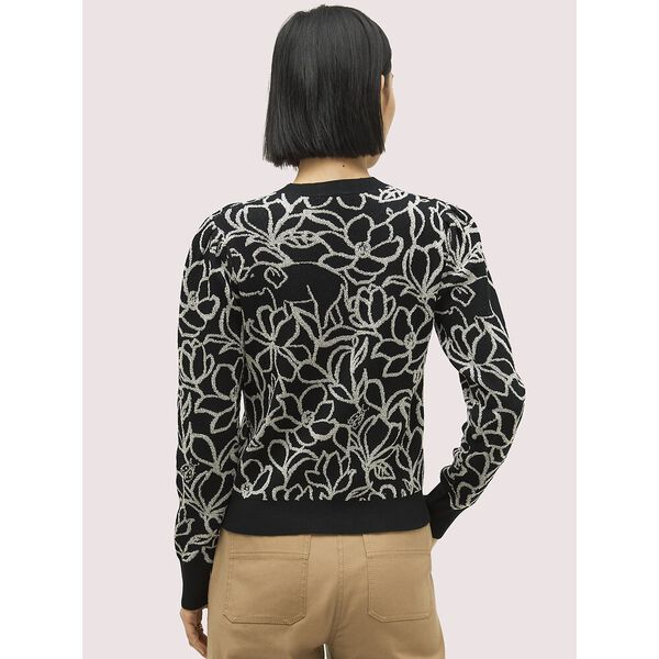 scribble flora sweater, black, hi-res