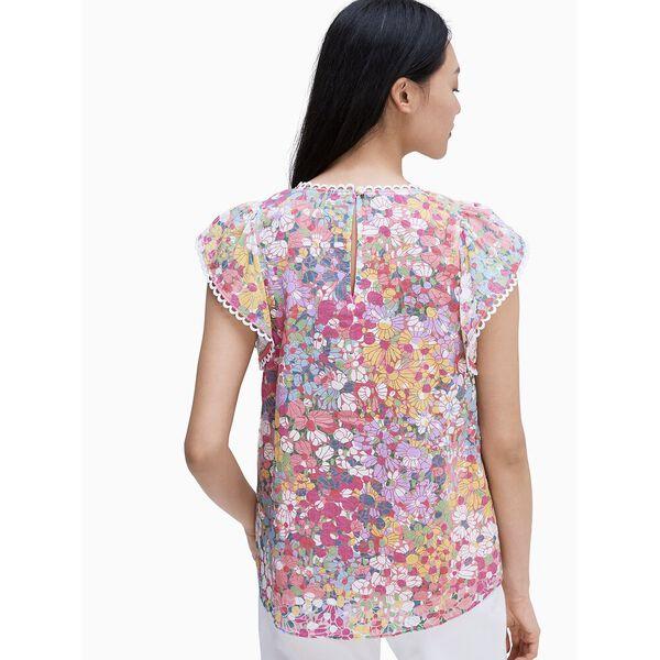floral dots burnout top, MULTI, hi-res