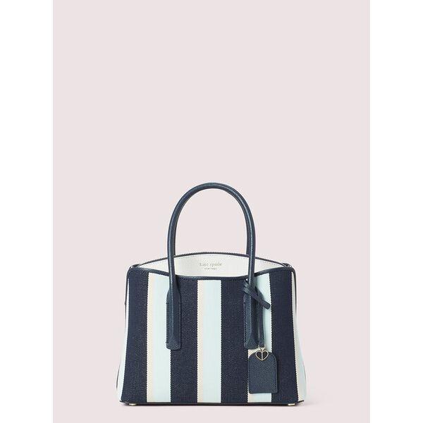 margaux canvas stripe medium satchel