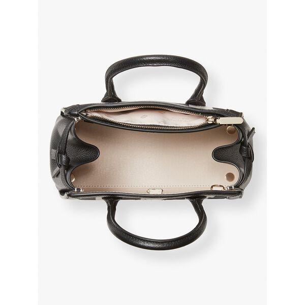 knott gingham mini satchel, black multi, hi-res