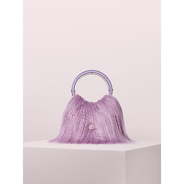 betty faux fur swag bag