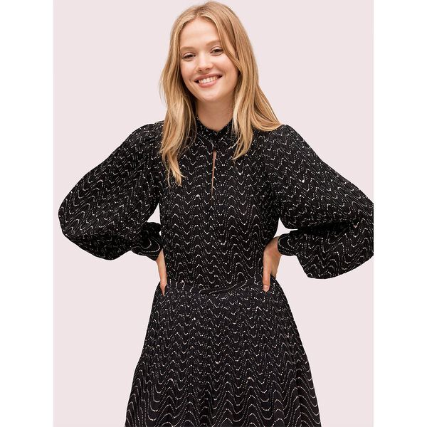 wavy dot blouse