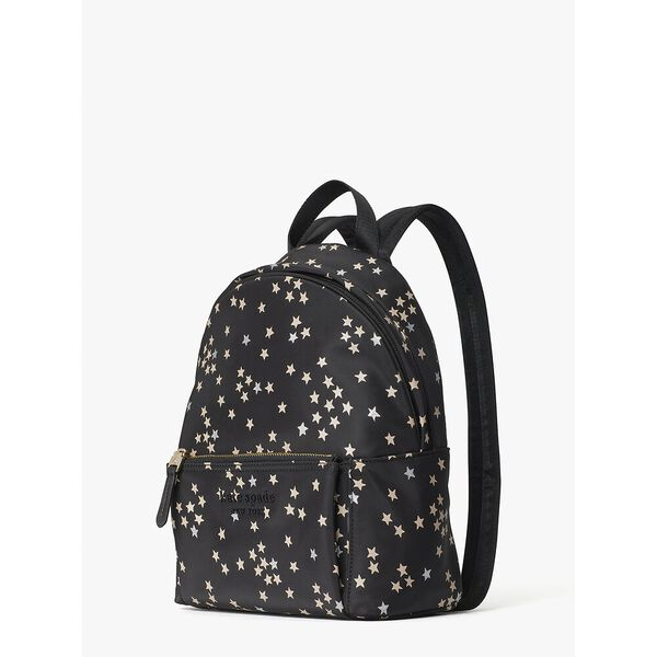 nylon city pack confetti stars medium backpack, BLACK MULTI, hi-res