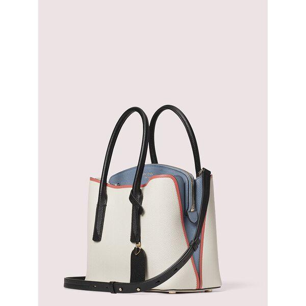 margaux medium satchel, parchment multi, hi-res