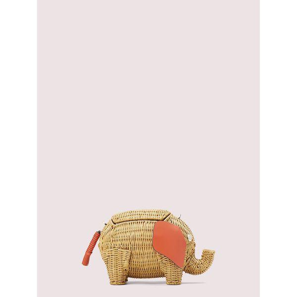 tiny wicker large elephant crossbody